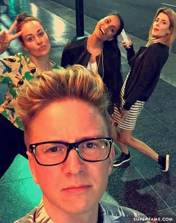 Tyler Oakley with friends.