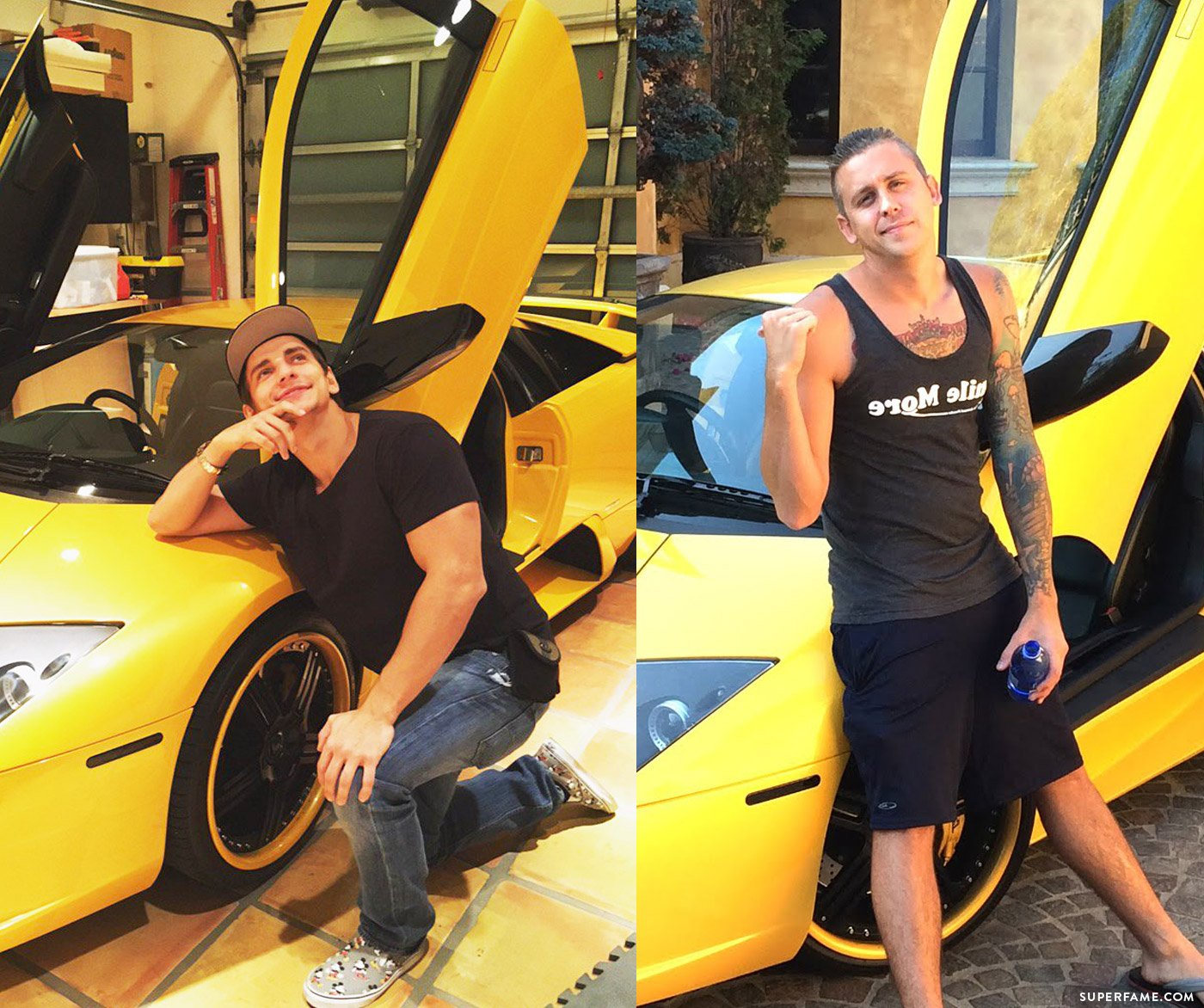 Vitaly and Roman Atwood with cars.