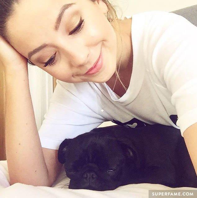 Zoella's pug.