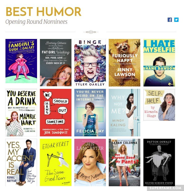 The Best Humor category.