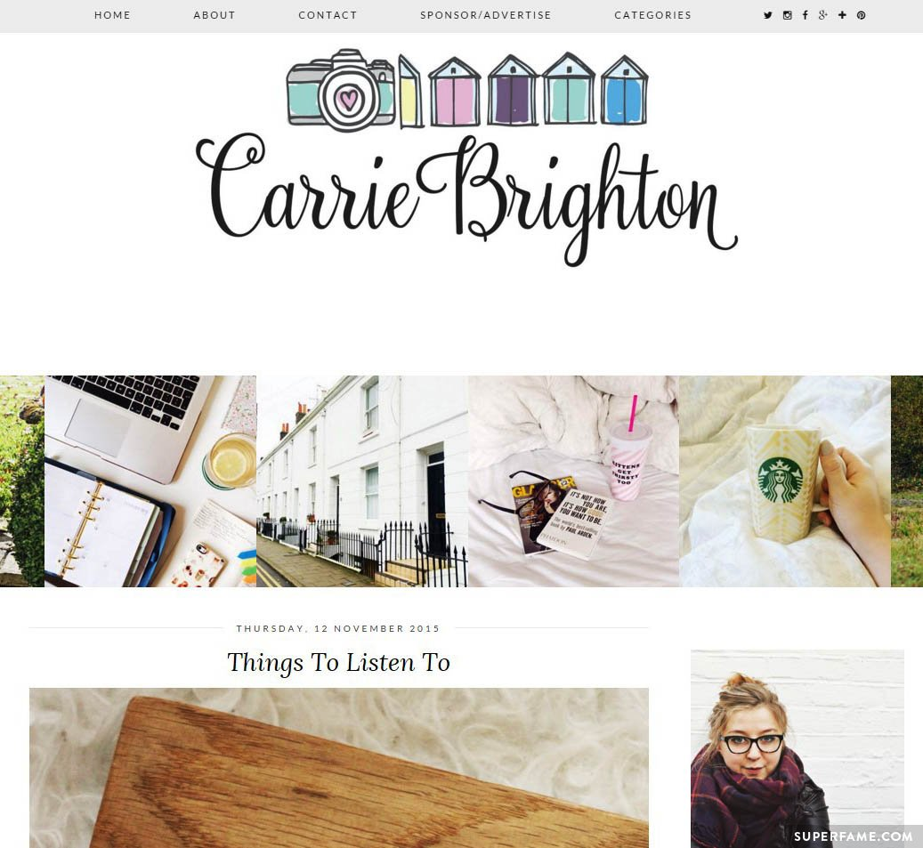 Carrie's blog.