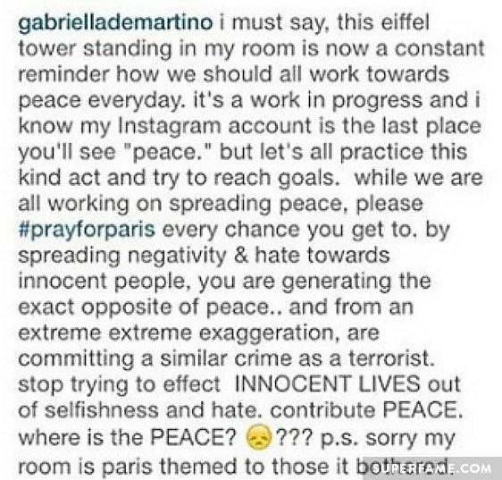 Gabi's original caption. (Photo: Instagram)