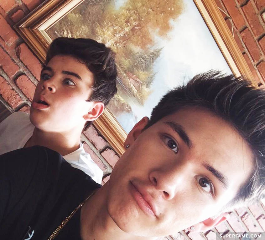 Hayes Grier with Carter Reynolds.
