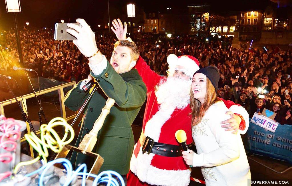 Jim, Tanya, Santa