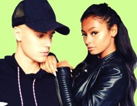 Jayde Pierce and Justin Bieber.