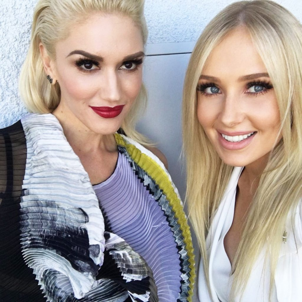 Gwen Stefani and Lauren Curtis.