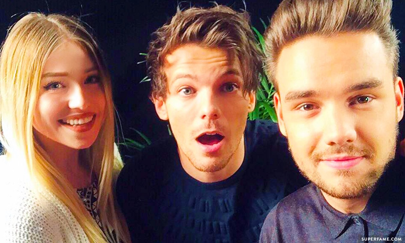 Bibi with Louis and Liam.