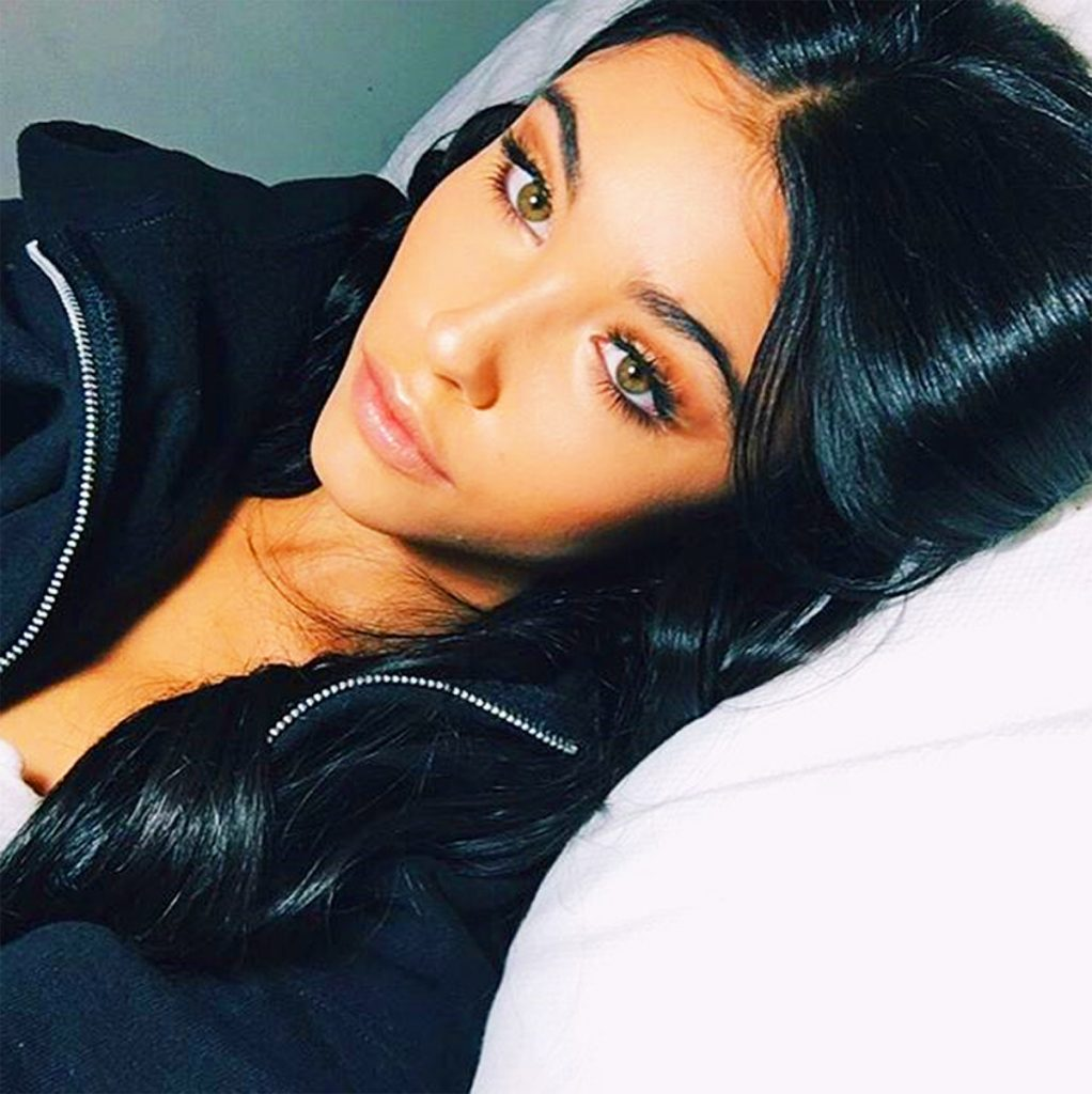 Madison Beer in bed.