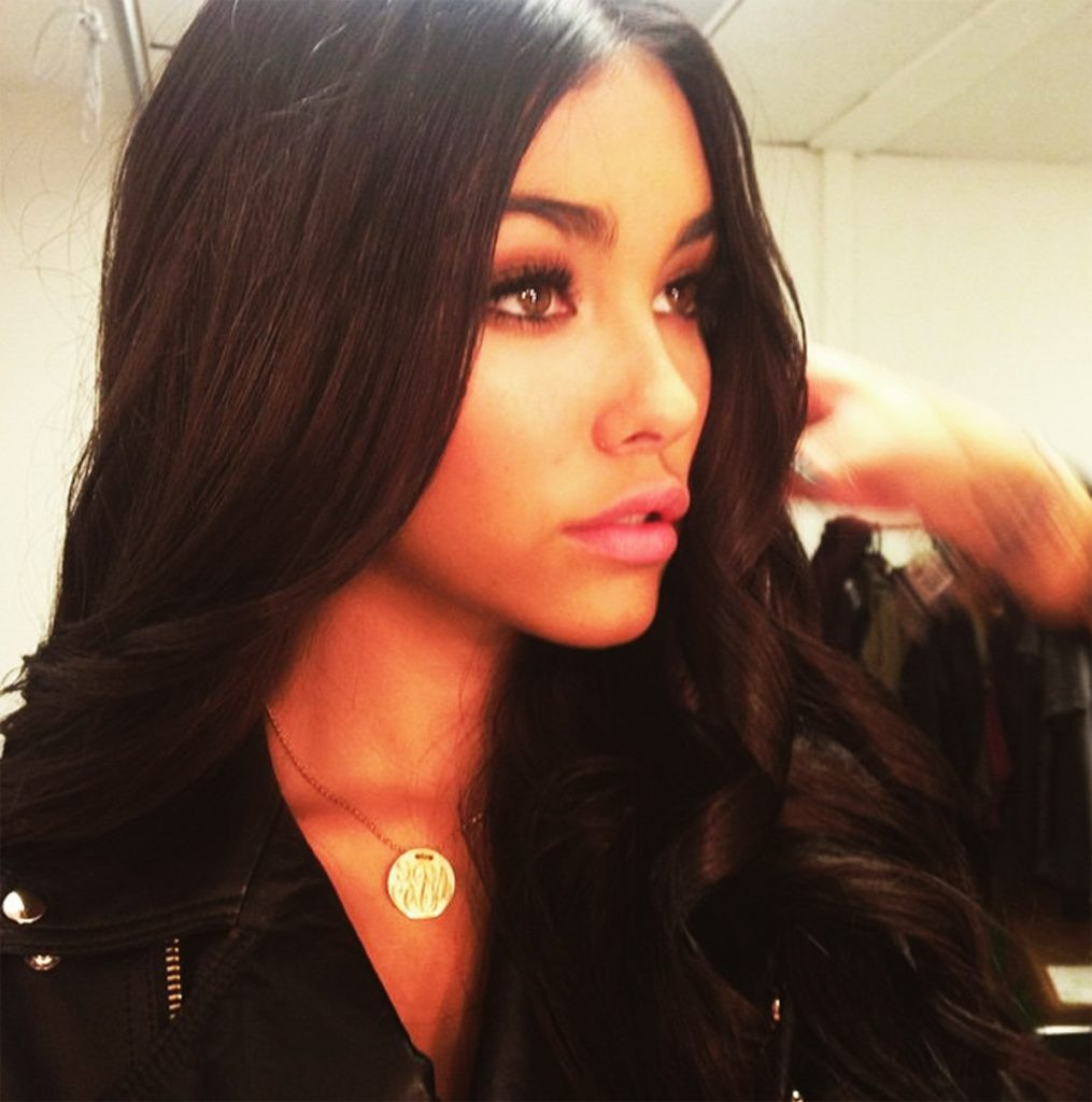Madison Beer's lips.