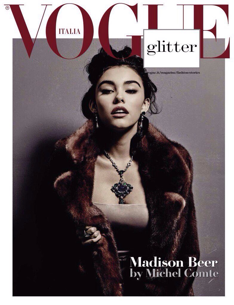 Madison Beer's magazine cover.