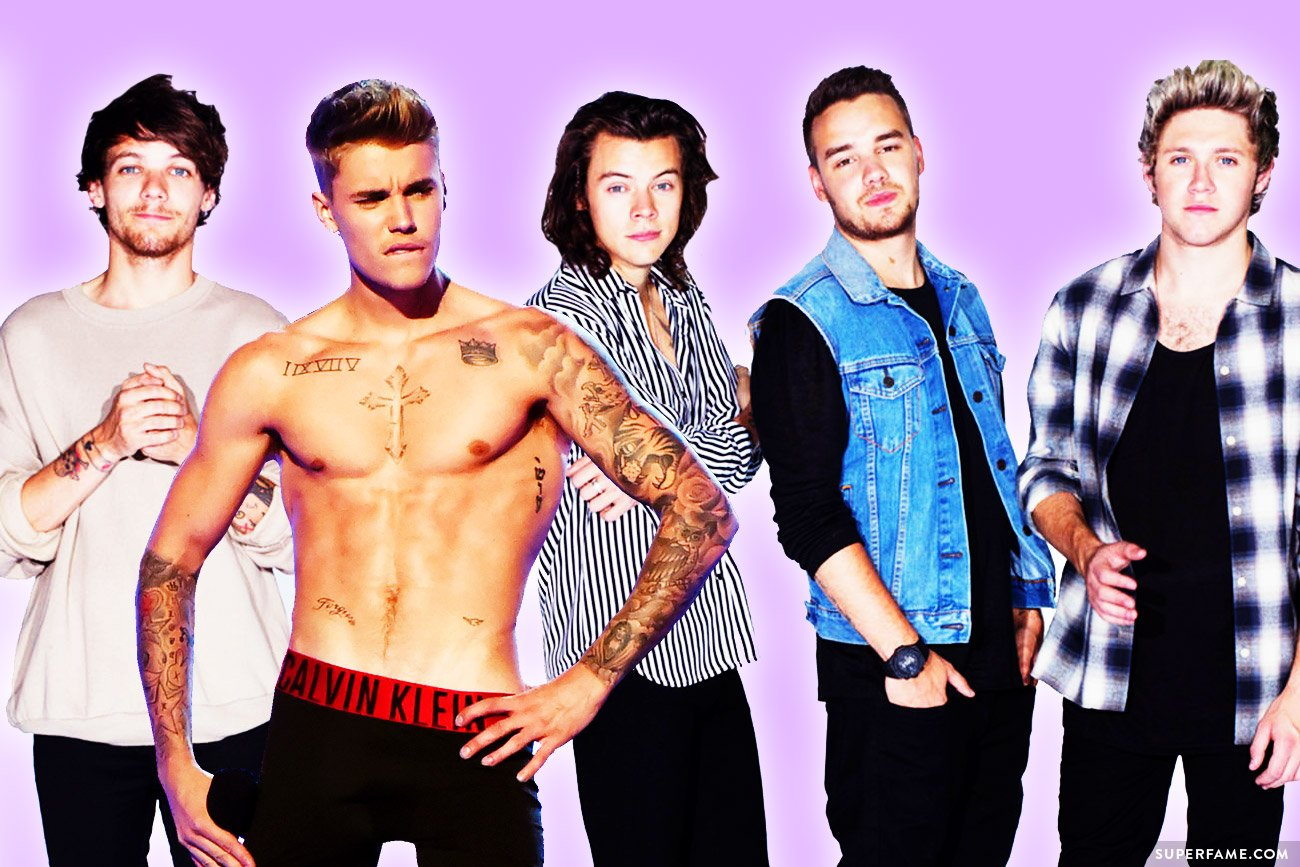 Justin Bieber and One Direction.