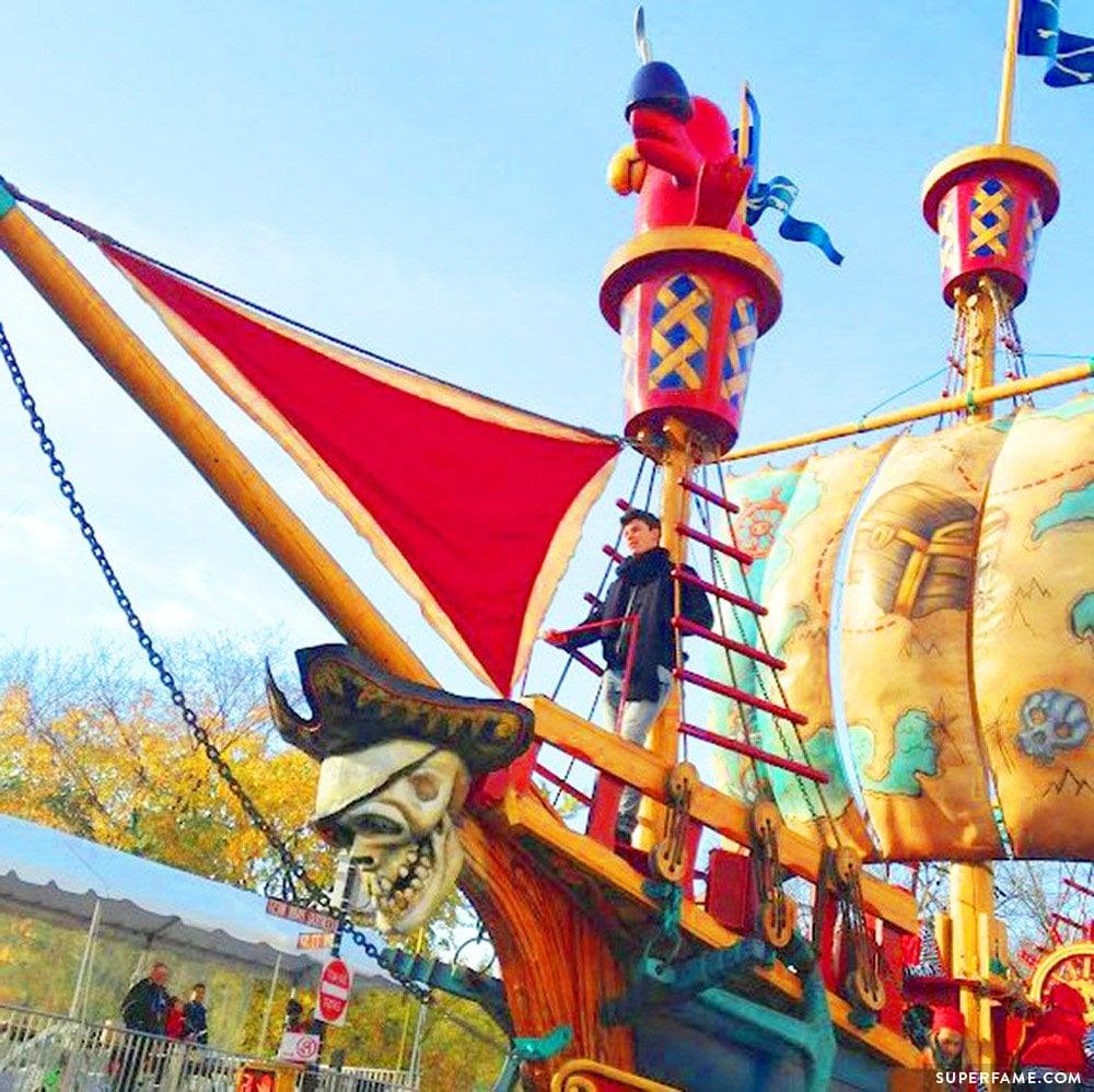 A pirate ship.