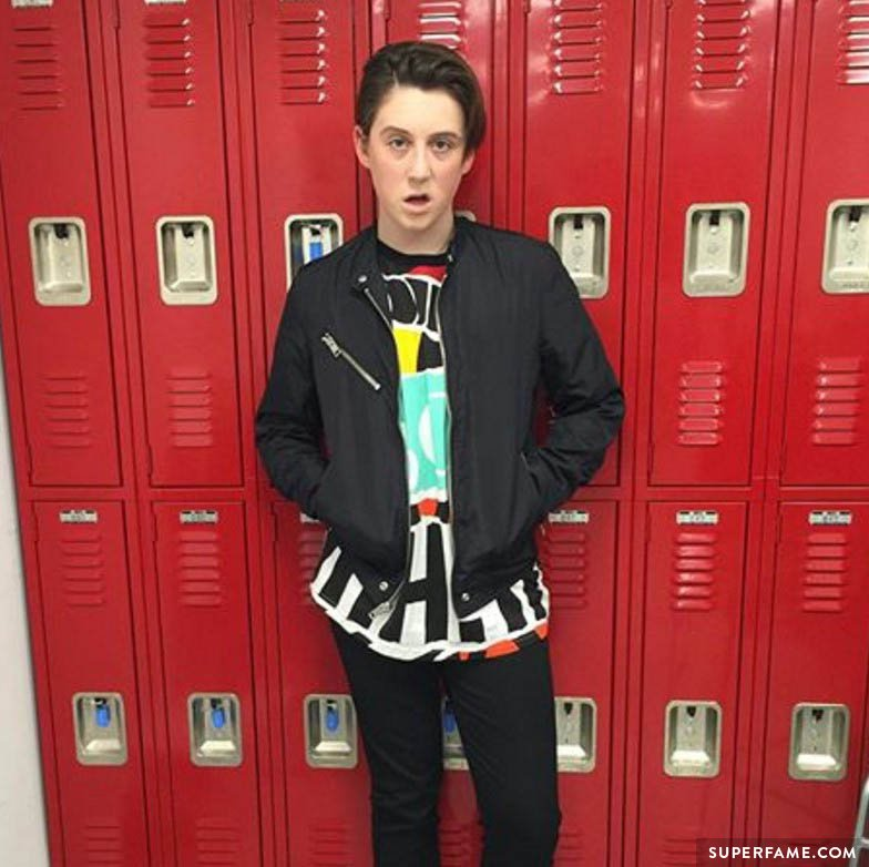 Trevor Moran with red lockers.