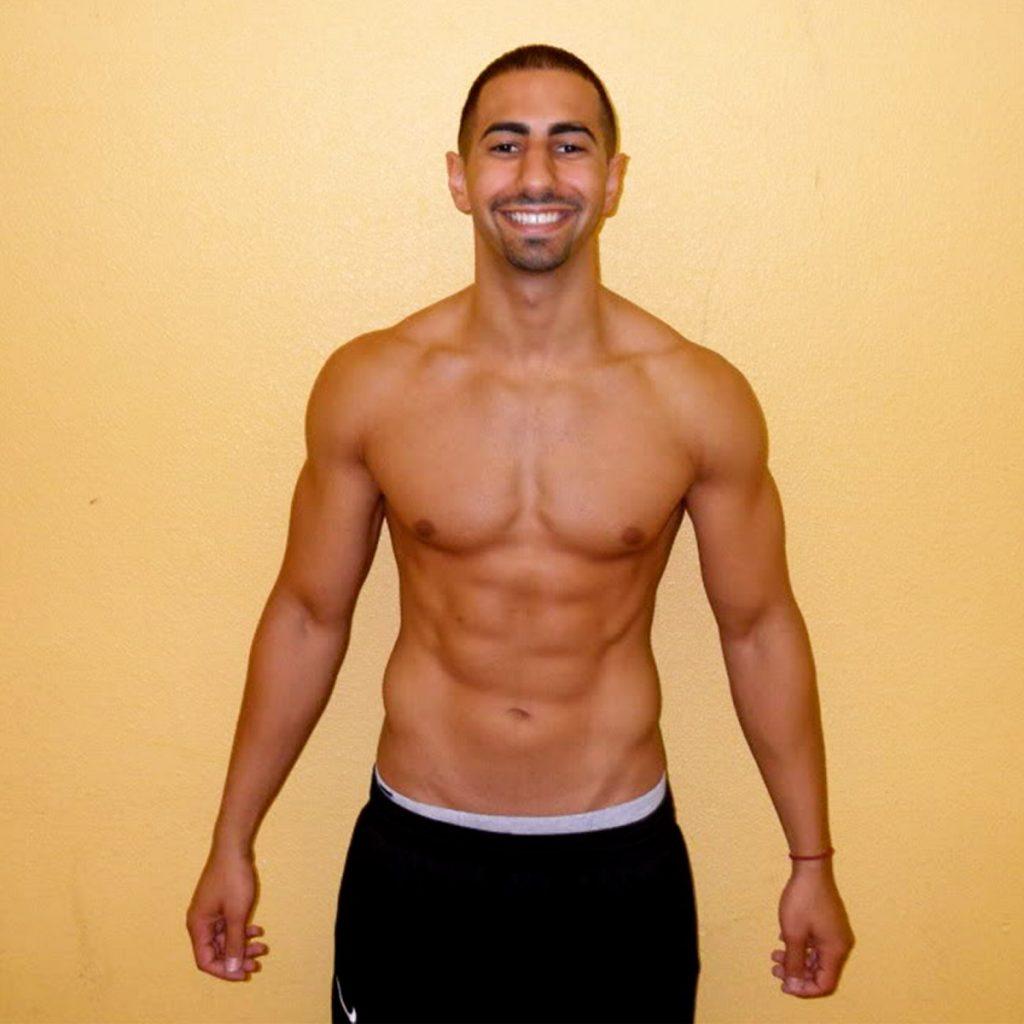 Yousef Erakat's shirtless body.