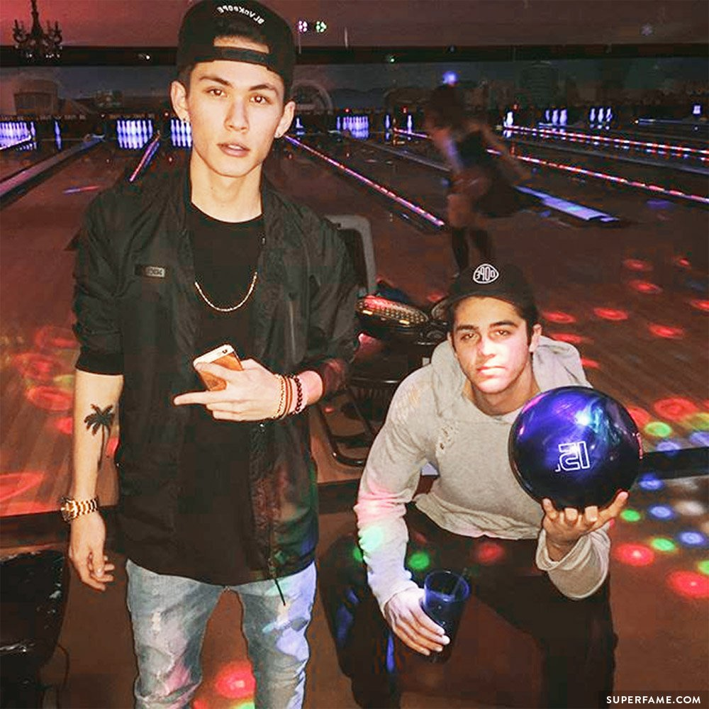 Carter Reynolds with friends.