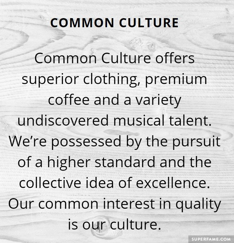 Common Culture's excellence.