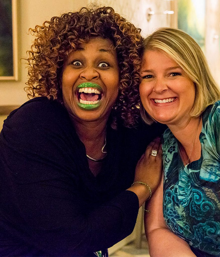 GloZell with her surrogate.