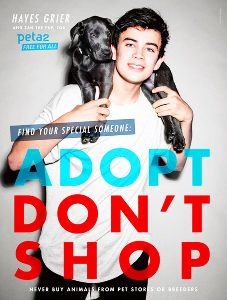 Hayes Grier for PETA.