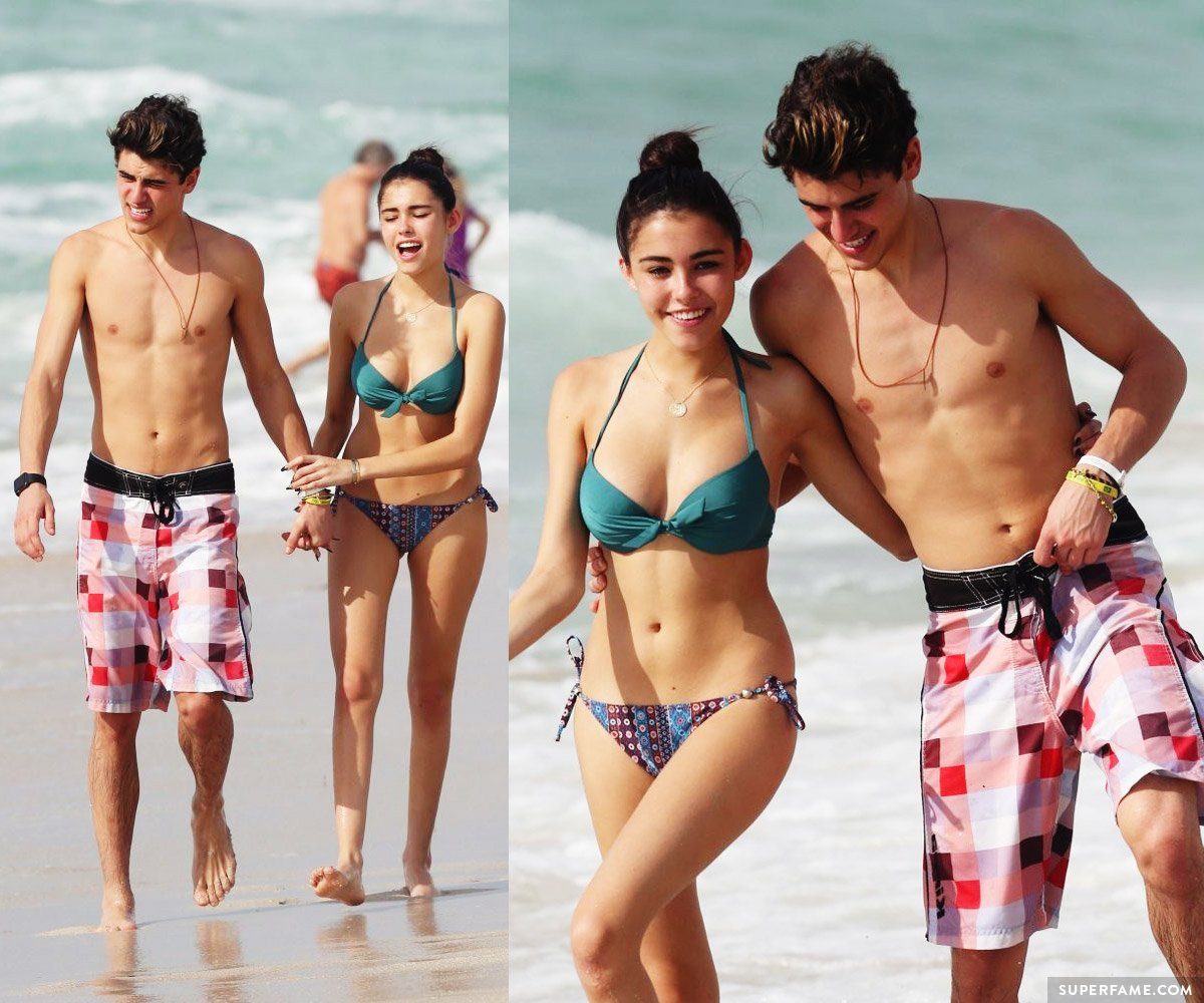 Madison and Jack shirtless.