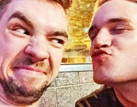 Pewdiepie and Jacksepticeye.