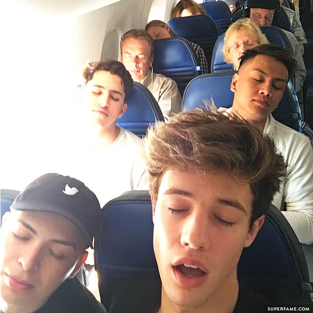Cameron Dallas asleep.