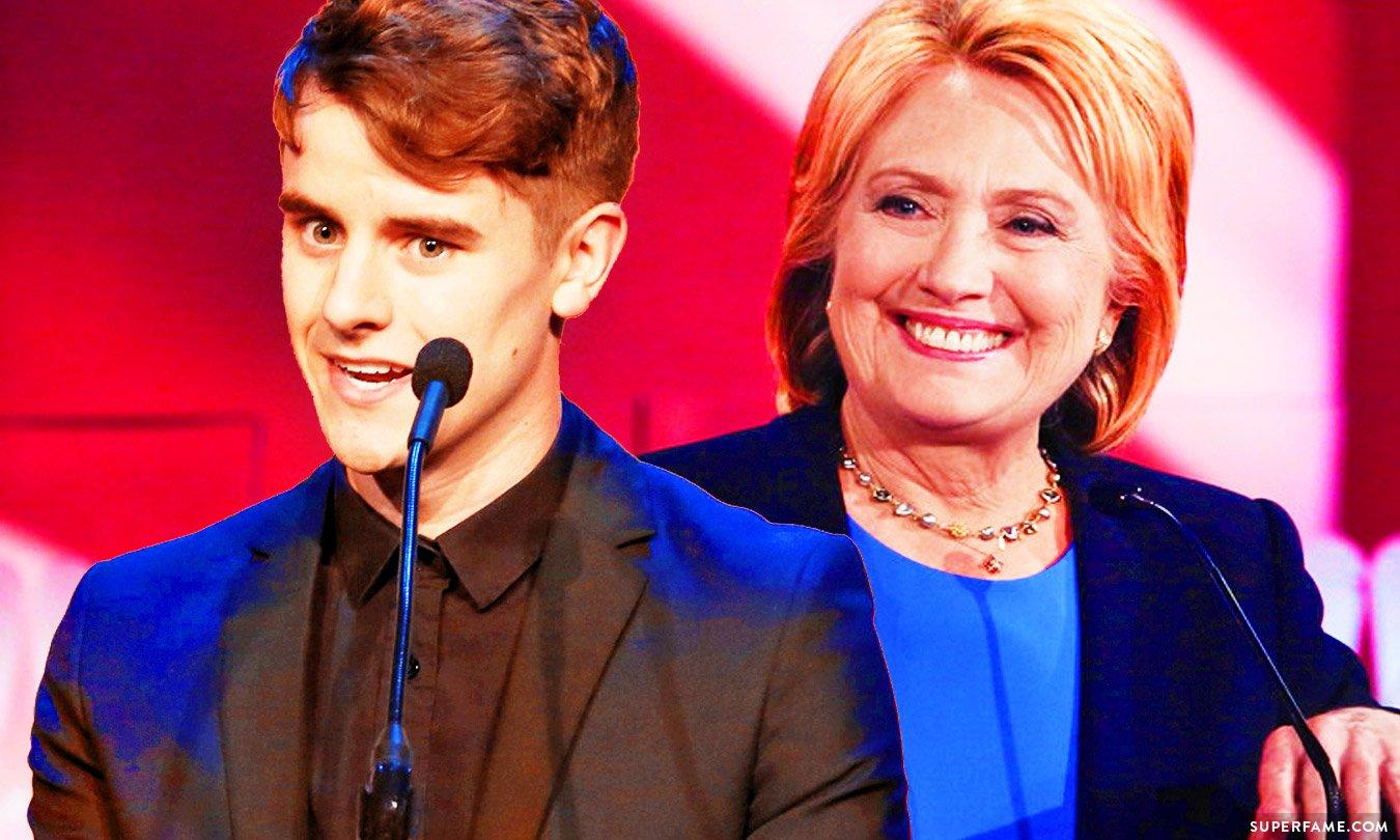 Connor Franta and Hillary Clinton