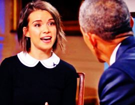 Ingrid Nilsen and Obama.