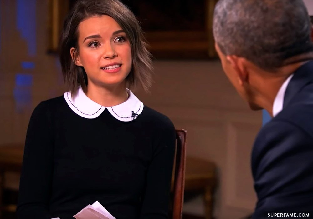 Ingrid and Obama.
