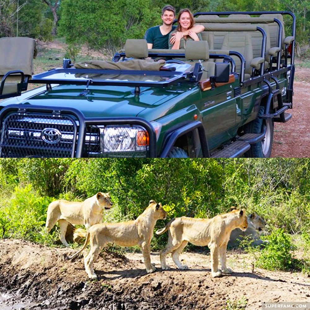 Jim and Tanya's African safari.