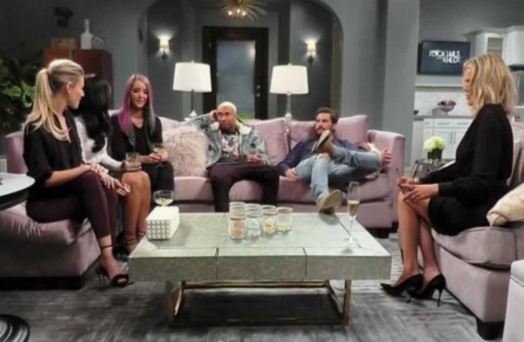 Tyga, Scott Disick, Malika Haqq, Jenna Mourey.