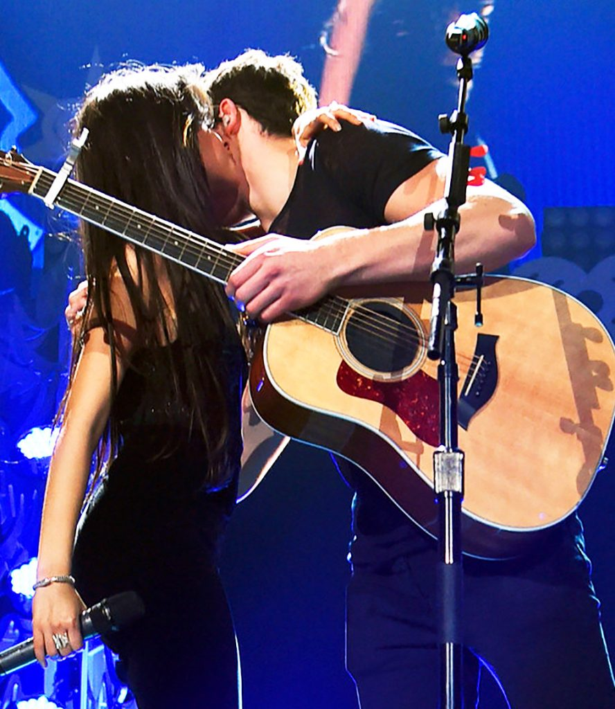 Shawn kissed by Camila.