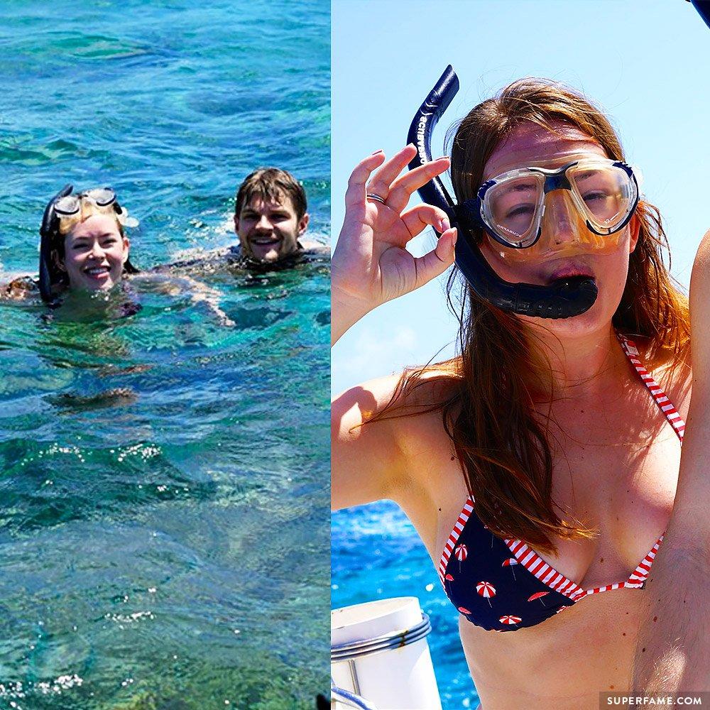 Tanya and Jim snorkeling.