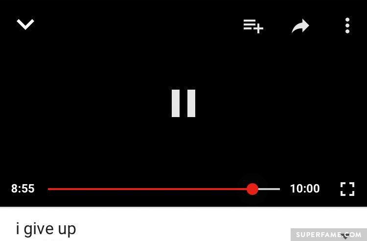 Sam Pepper's blank video.
