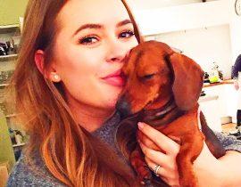 Tanya Burr's dog.