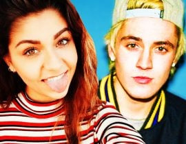Andrea Russett and Sam Wilkinson.
