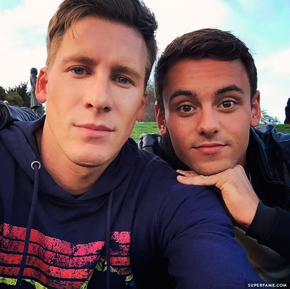 Tom Daley and Dustin.