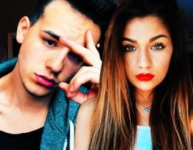 Andrea Russett and Jacob Whitesides.