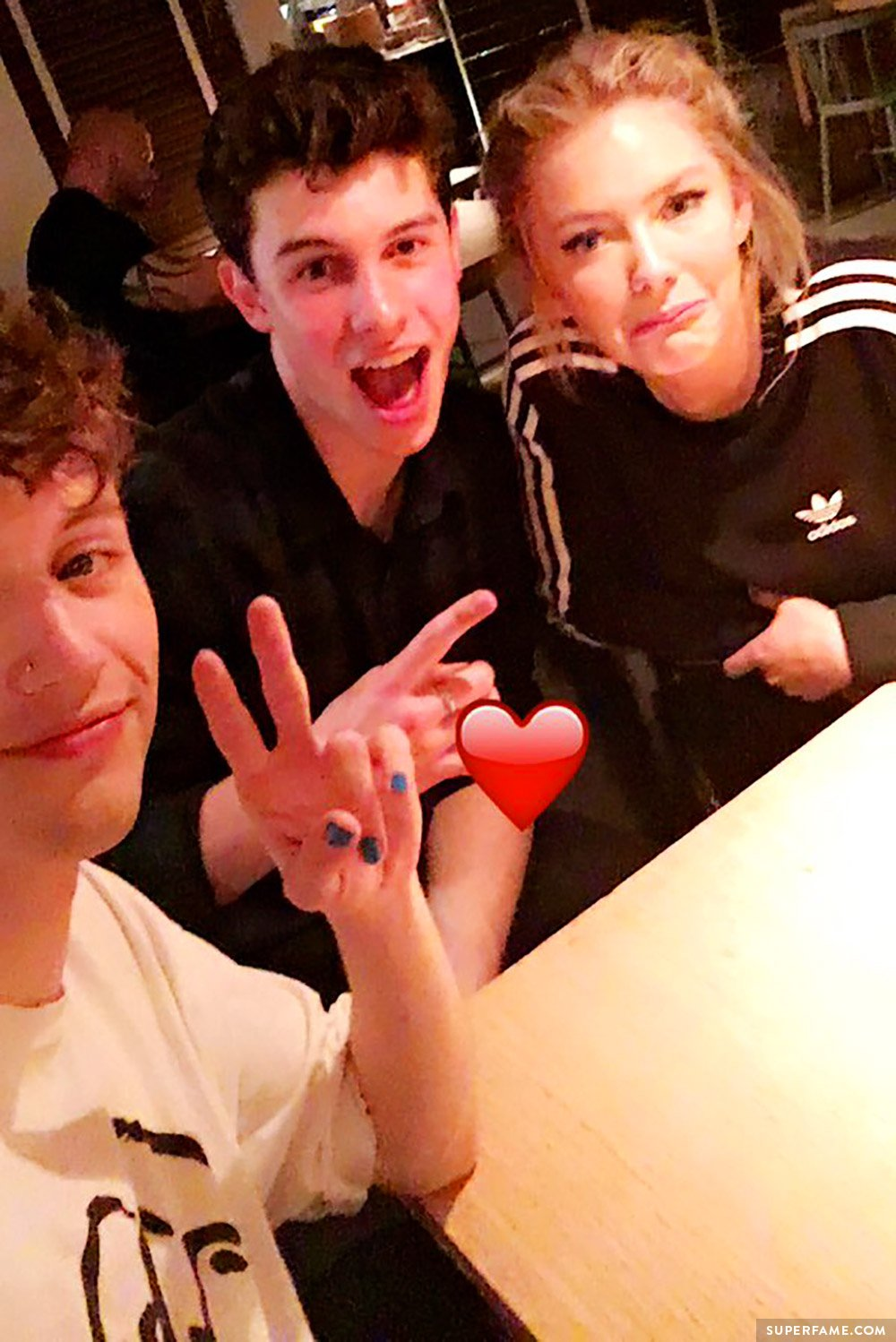 Troye, Astrid and Shawn.