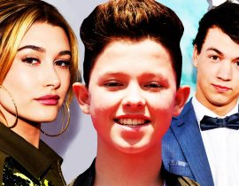 Jacob Sartorius, Taylor Caniff and Hailey Baldwin.