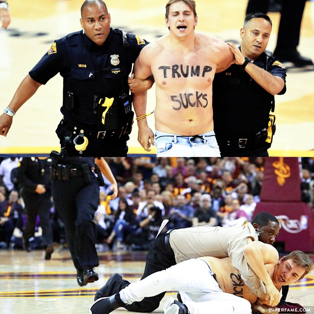 Shirtless Vitaly Streaks at the NBA Finals & Gets Arrested! - Superfame