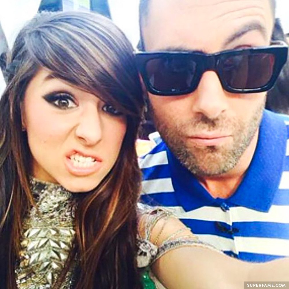 Adam Levine and Christina Grimmie.