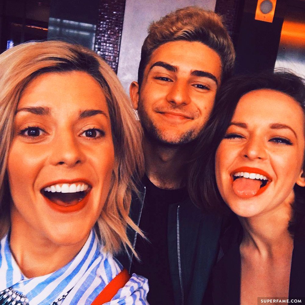 Alexis G. Zall with YouTubers.