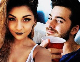 Andrea Russett and Dominic DeAngelis.