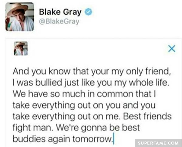 Blake Gray Also Bullied