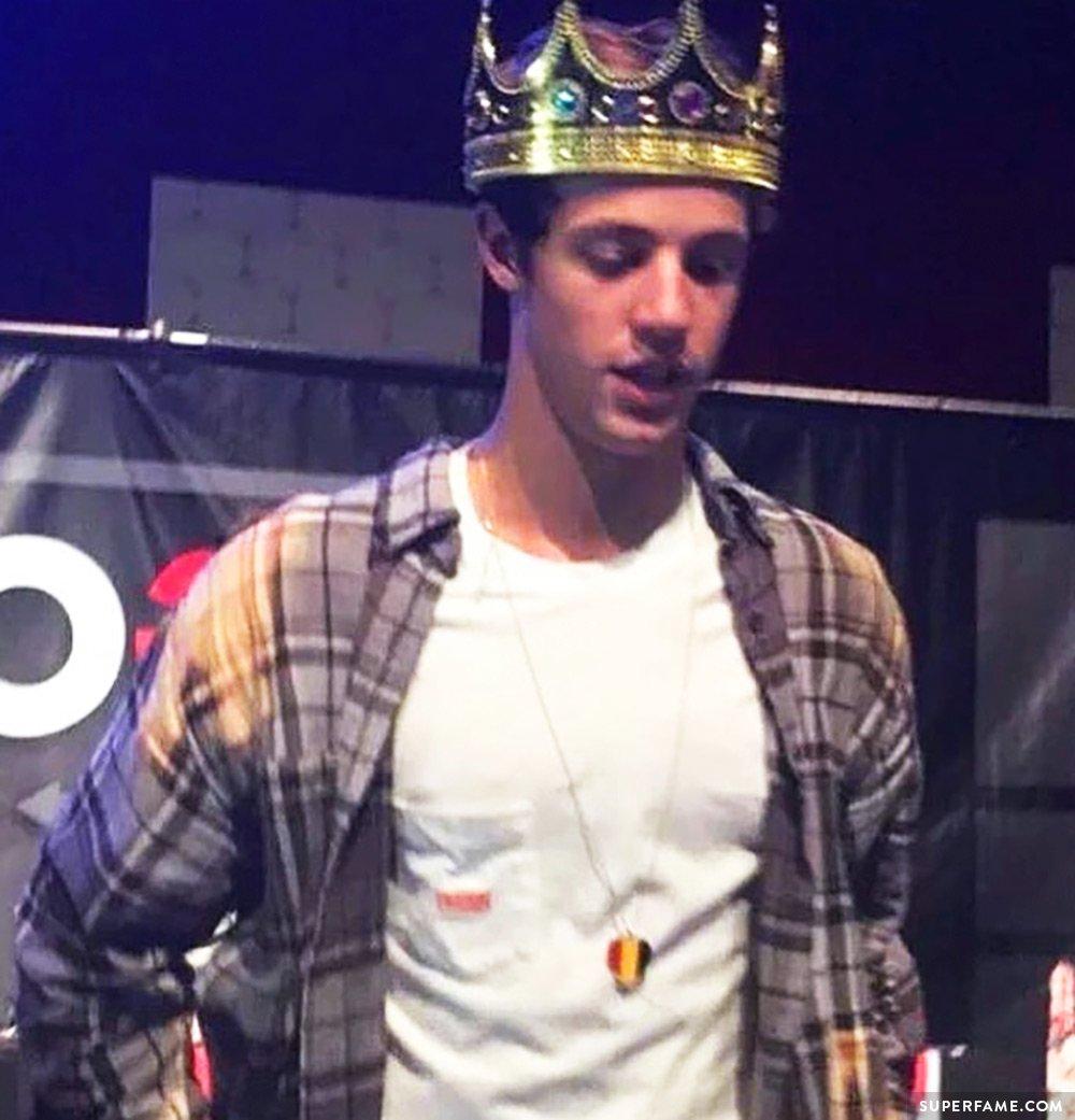 Cameron Dallas's crown.