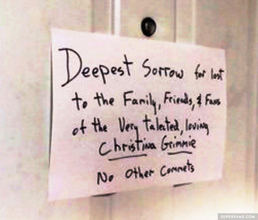 Killer's note.