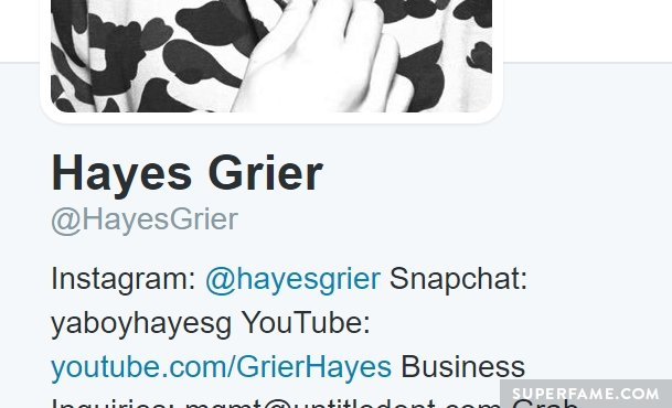 Hayes Grier's Twitter.
