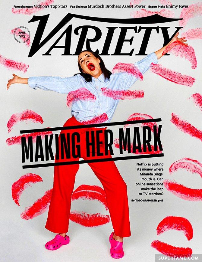 Miranda Sings' Variety cover.