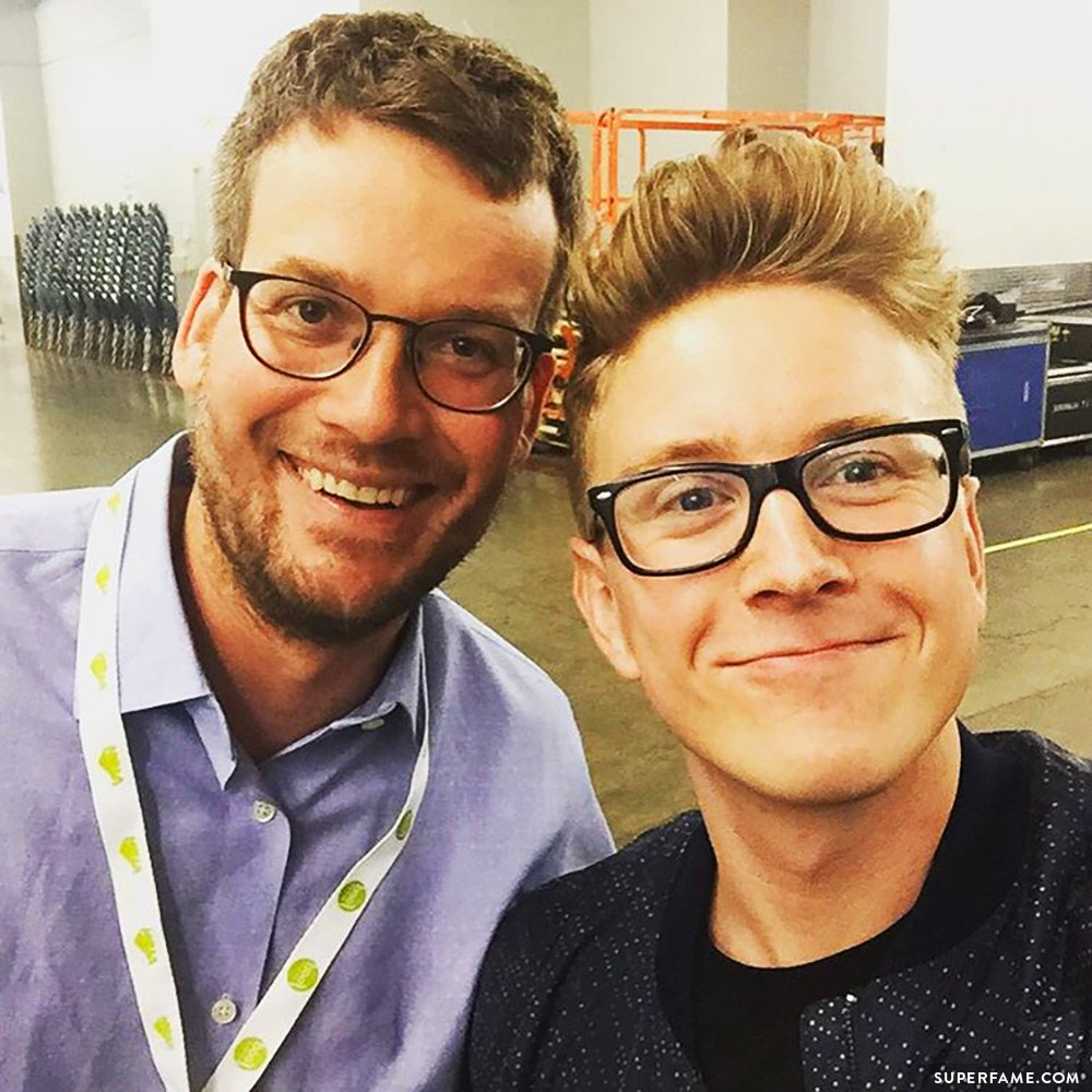 Tyler Oakley and John Green.
