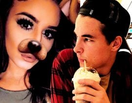 Alexandria Schneck and Kian Lawley.